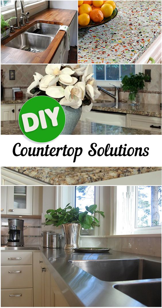 22 DIY Kitchen Countertop Ideas Simphome