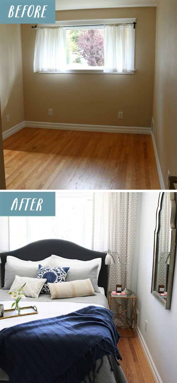 22 Small Bedroom Makeover Before and After The Inspired Room Vintage Small Bedroom Makeover Simphome 2