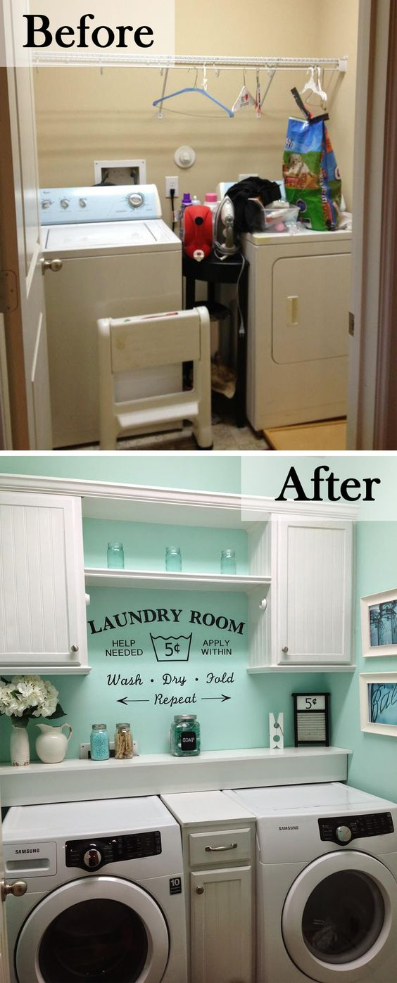29 23 Before and After Budget Friendly Laundry Room Makeover Ideas That Will Amaze You by Homebnd Simphome
