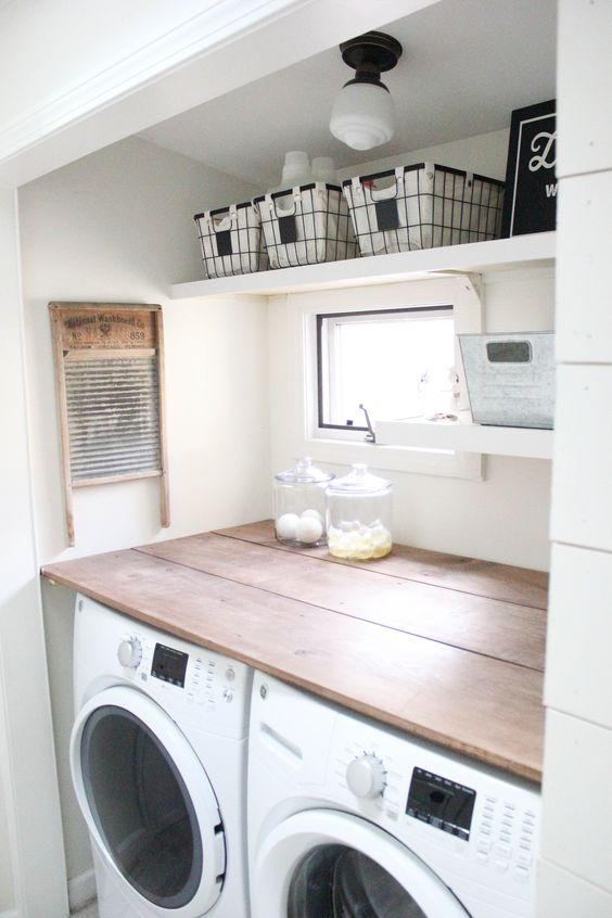 54 farmhouse laundry room thats small Simphome