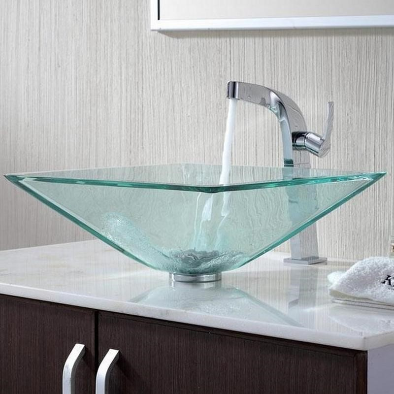 6 Turquoise Glass Modern Sink Simphome com