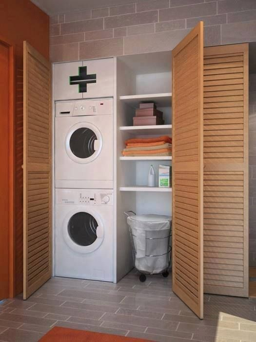 72 A hidden laundry room for a limited space Simphome