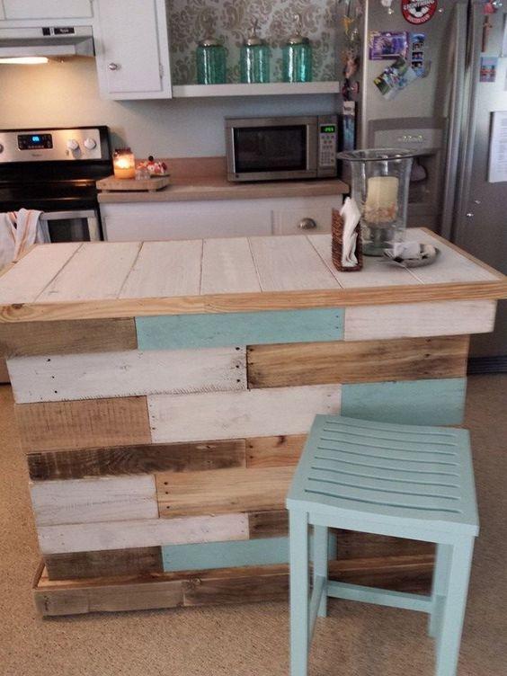 77 DIY pallet kitchen island Simphome