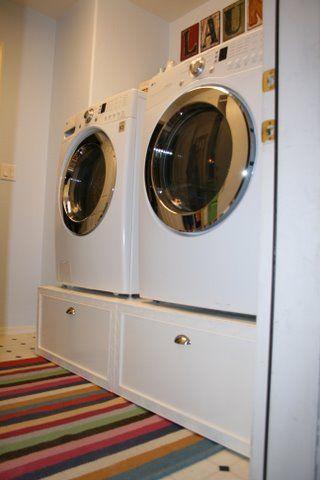8 Washer Dryer Pedestal platform drawers by Ana white Simphome