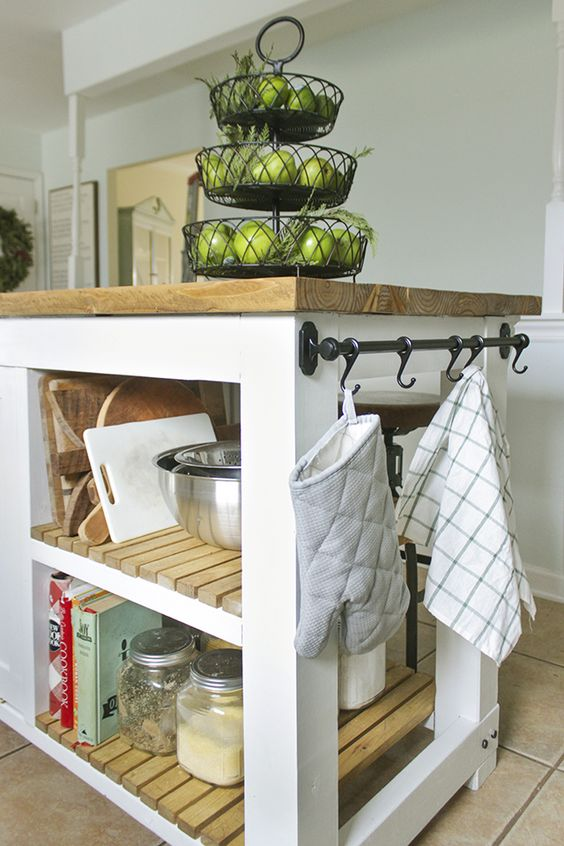 90 DIY Kitchen Island with shelves Simphome