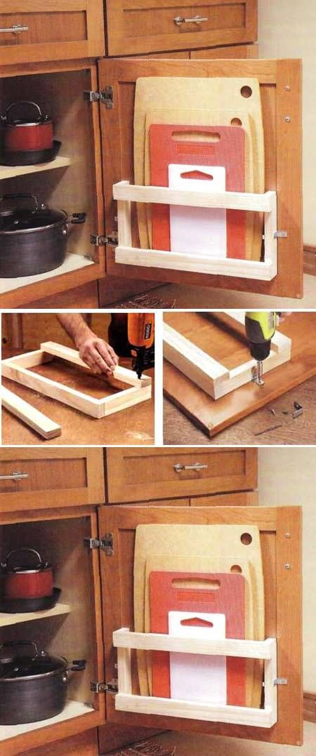 10 Smart DIY Cutting Board Holder via simphome
