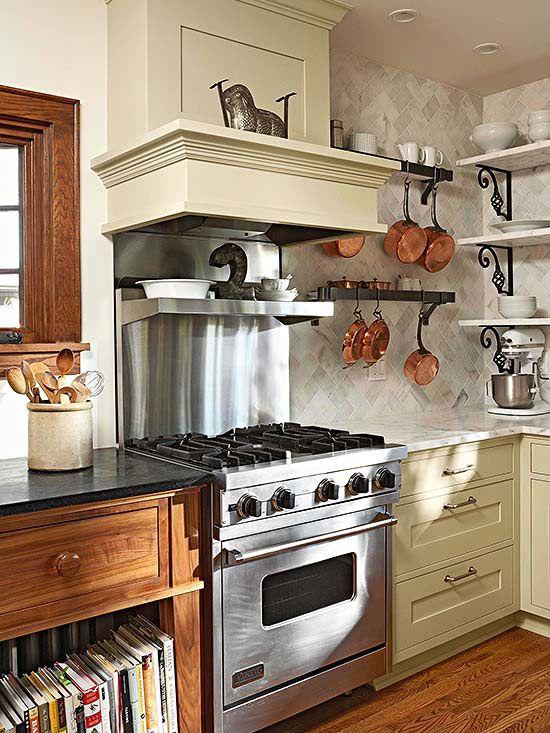 110 Copper open shelves via simphome
