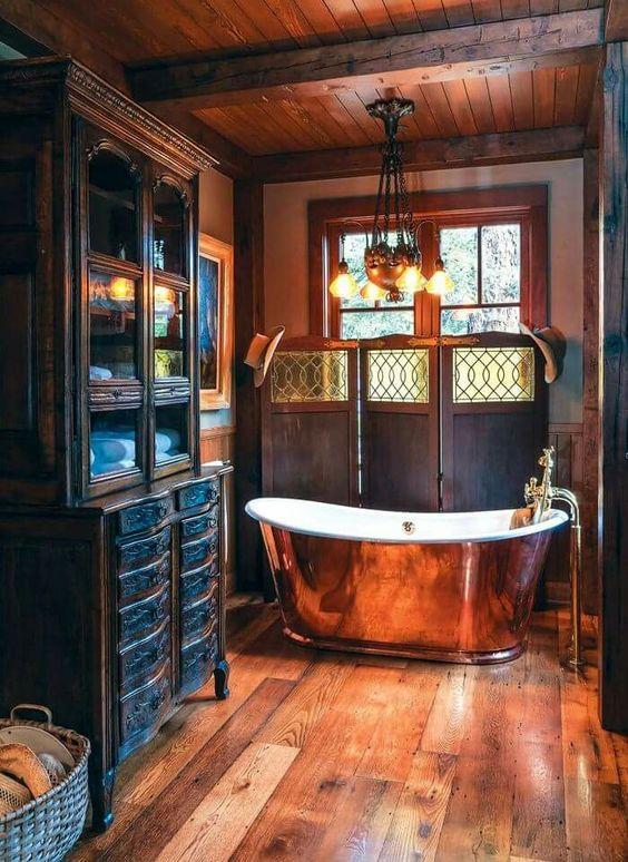 12 a steampunk style bathroom Simphome