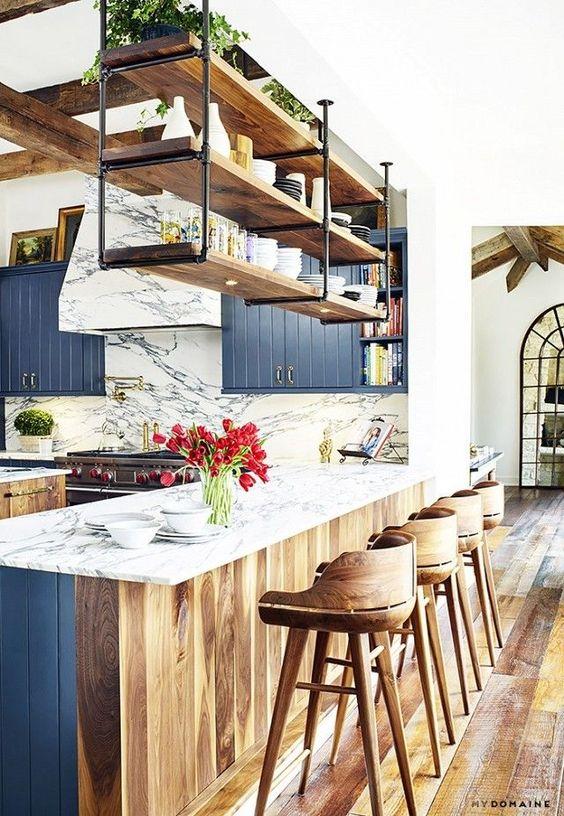 138 Gorgeous Blue Kitchen Cabinet Ideas 23 ideas via Simphome
