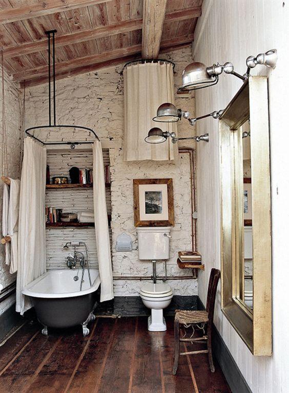 14 Rustic looking bathroom Simphome