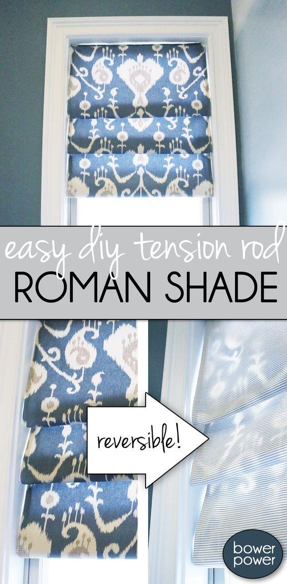 15.Easy Roman Shade