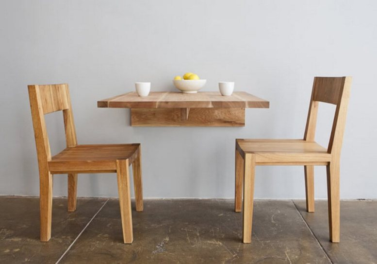 169 Foldable Mounted Dining Table via simphome