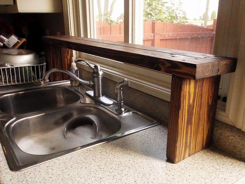 189 Pallet Wood Sink Shelf via simphome