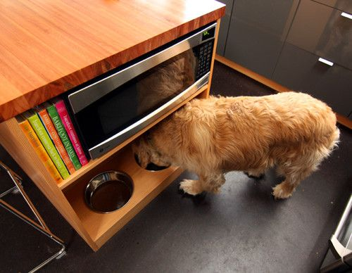 19 Provide a Food Spot for Your Pet simphome