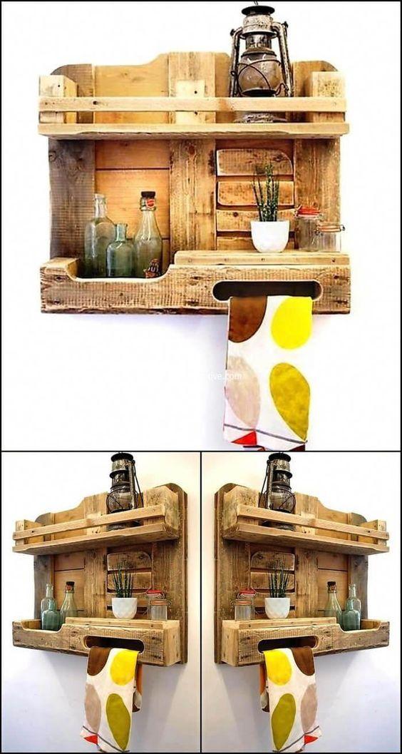 190 2 Kitchen storage idea using pallet wood via simphome