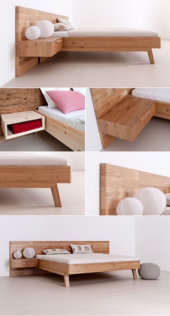 2 A solid wood bed Alp Style Simphome