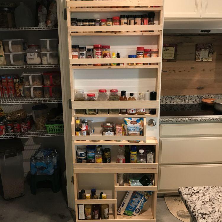 244 DIY Pantry Door Spice Rack 2 via Simphome