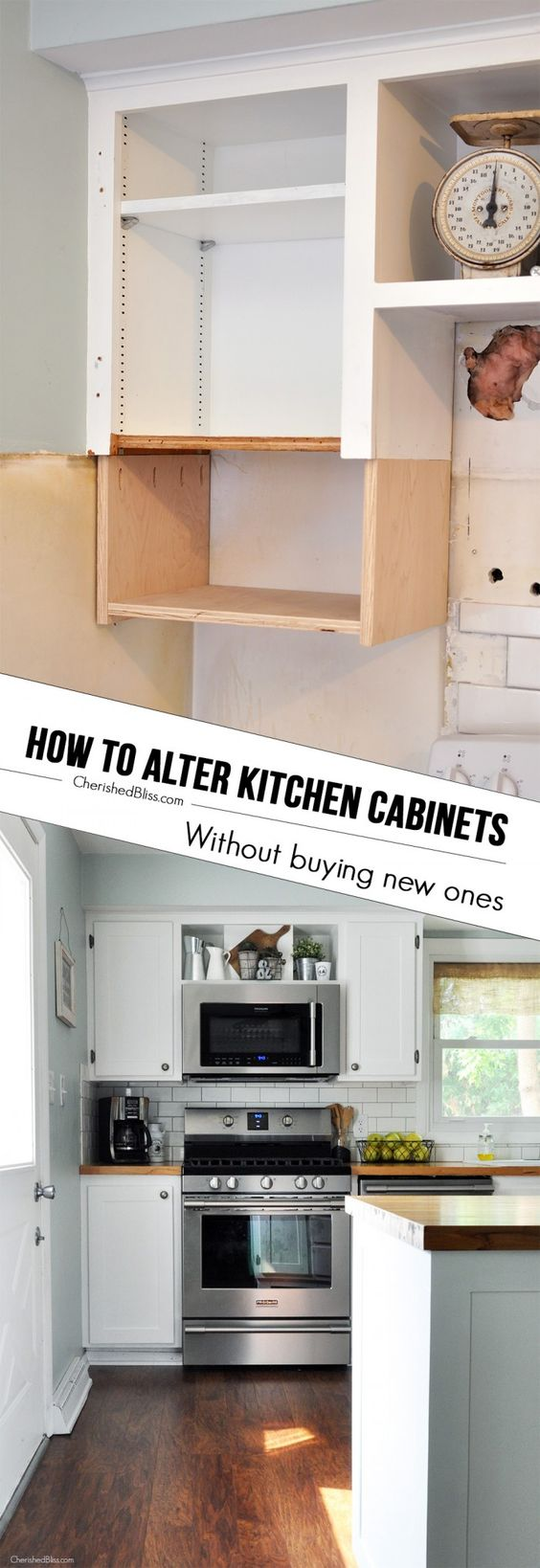 248 How to Alter Kitchen Cabinets via simphome