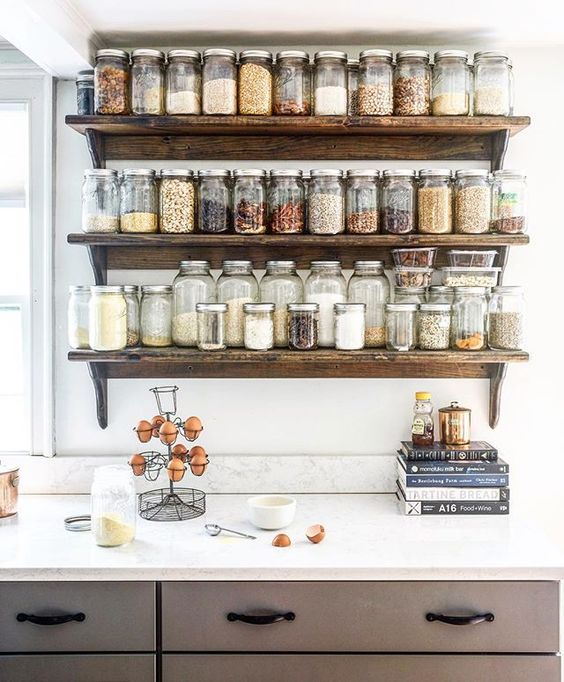 279 Creative multi jar shelving idea via simphome