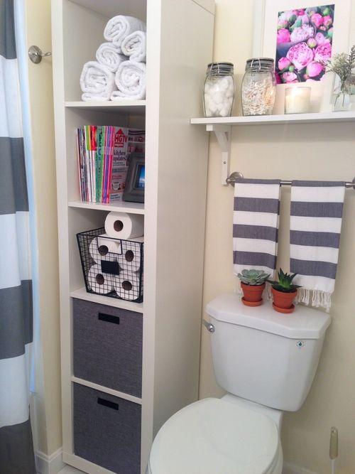 28 Bathroom storage styling IKEA Expedit shelf Simphome
