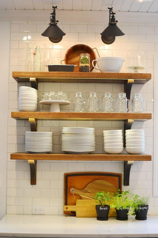 285 Top ten Diy Farmhouse Shelves Ideas via simphome