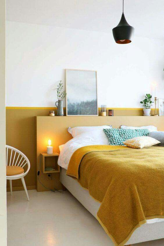 29 Yellow bedroom saved by Karolina Stawosk Simphome