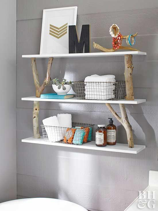 3 Rustic Shelves via simphome