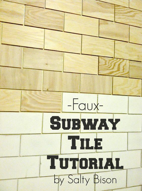 31.Faux Subway Tile Tutorial