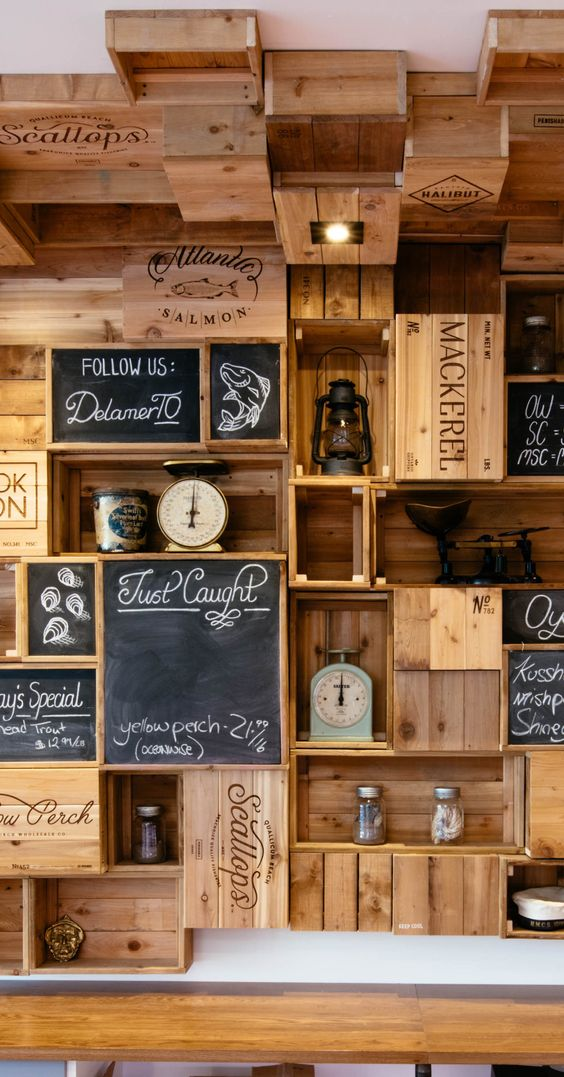 325 Kitchen cabinet idea using crate by Architecta via simphome