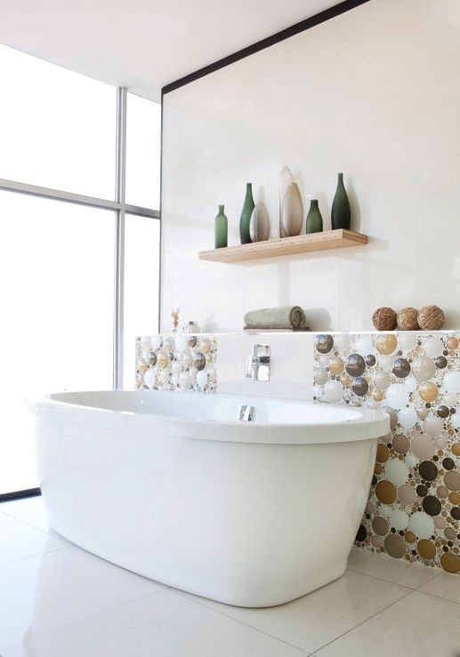 34 Pebble mosaics with earthy tones bring nature into your bathroom Simphome