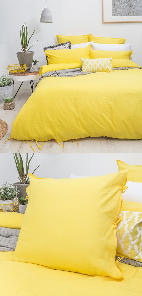 35 Yellow bedspread Simphome