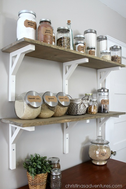 5 Open Shelving Pantry via simphome