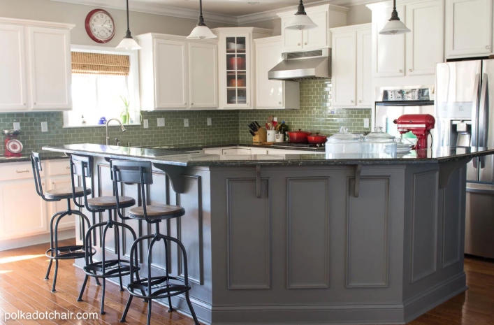 5 Repaint Your Kitchen Cabinets via simphome