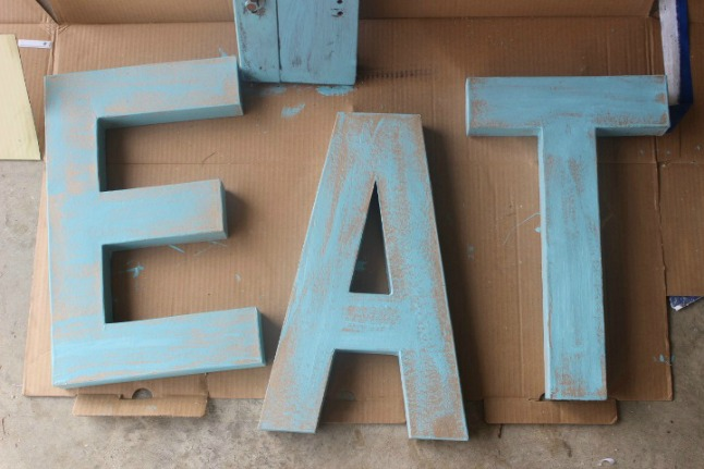 53 Cardboard Word Decoration eat simphome