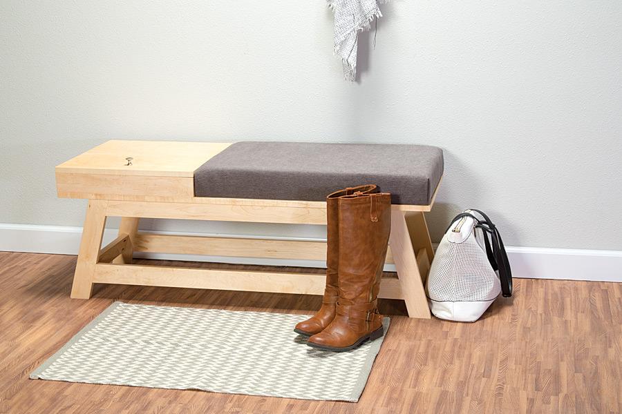 6 Bench with Hidden Storage via Simphome