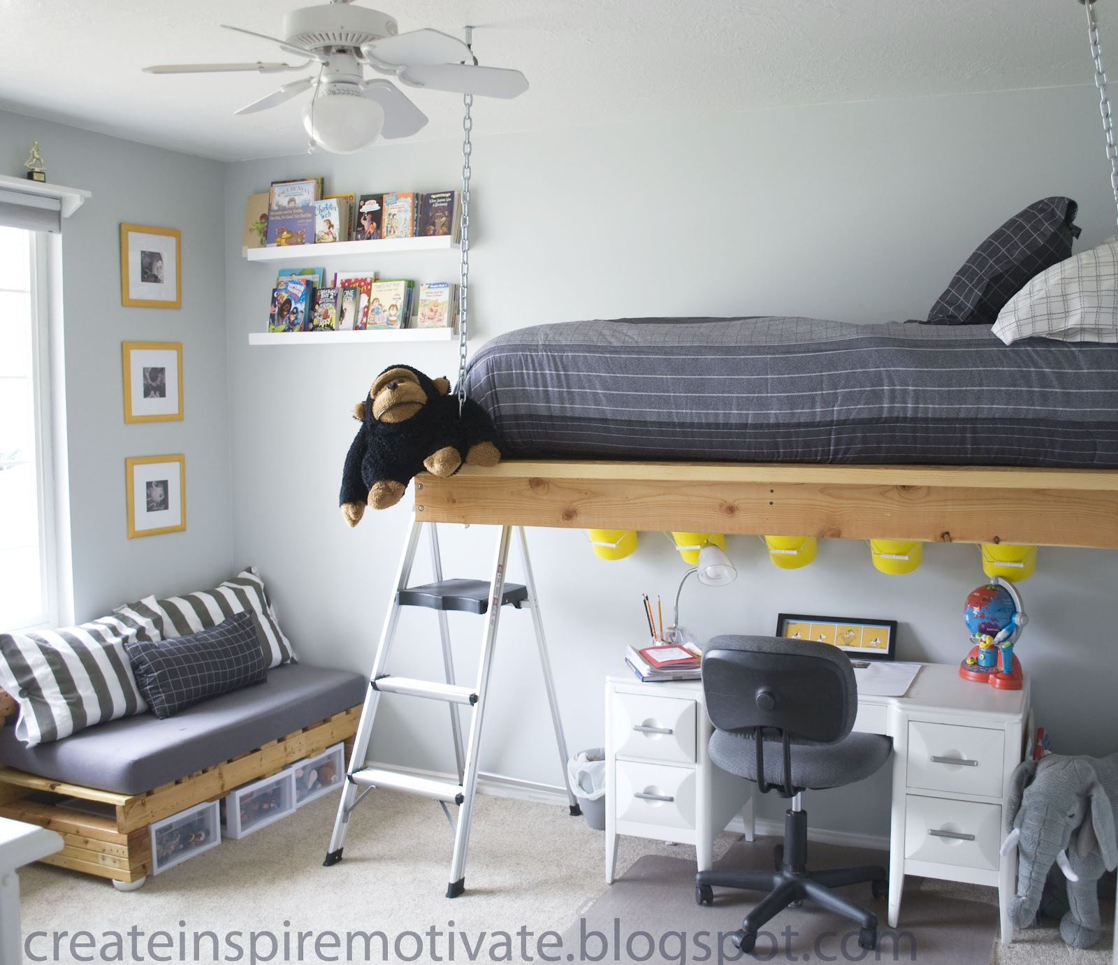 6 DIY Loft Bed via simphome