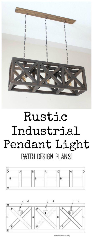 6.beautiful DIY light fixture