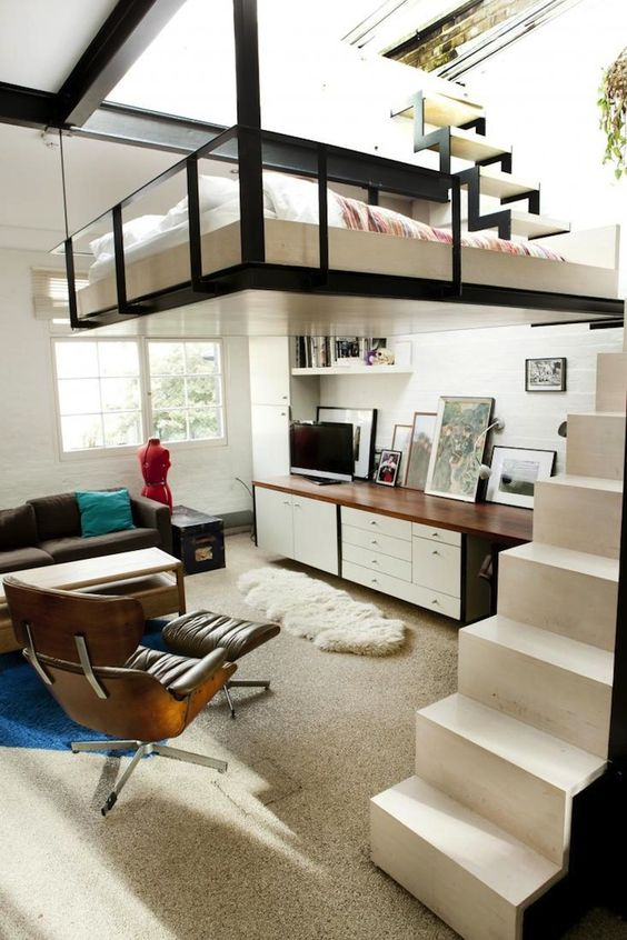 67 Elevated bed in London loft 721 × 1082 Simphome