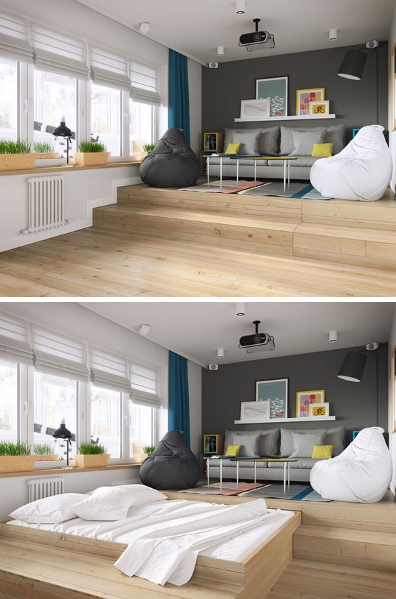 68 A Clever Design Solution For A Bed In A Small Apartment Simphome