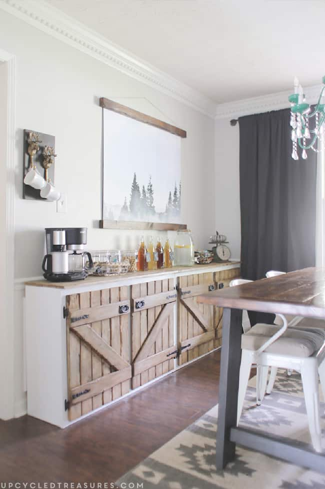 7 Barnwood Cabinet Doors for A More Rustic Look via simphome