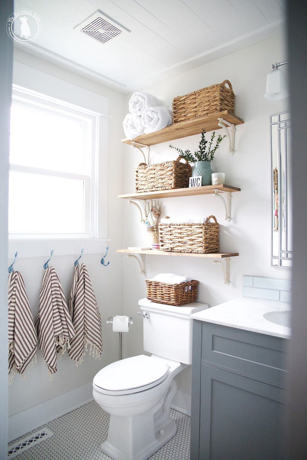 7 Open Shelves and Wicker Baskets via simphome