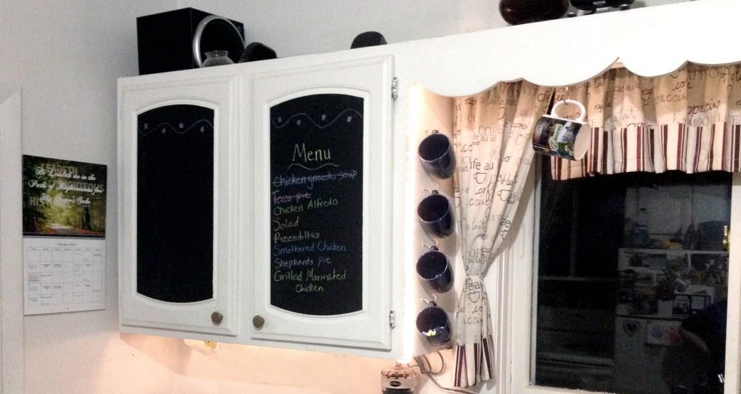 8 Chalkboard Cabinet Doors via simphome