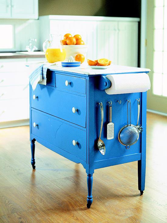 dresser to island via simphome