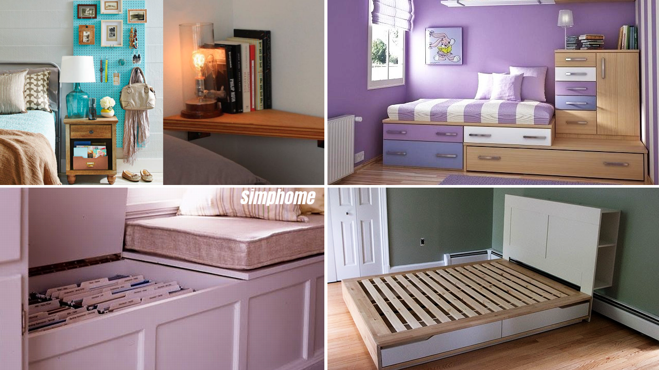 10 Storage Organizer Ideas For Small Bedroom via simphome
