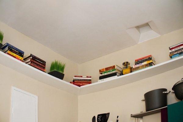 10 Under the Ceiling Shelf via simphome