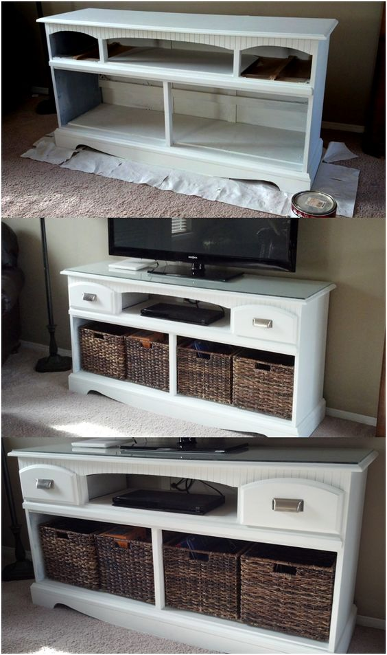17 From old dresser to a new TV stand via simphome