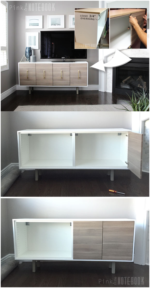 17 IKEA SEKTION makeover TV Console via simphome