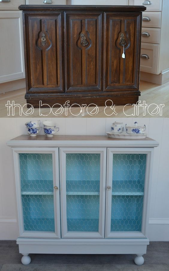 18 An old cabinet becomes a beautiful little buffet via simphome