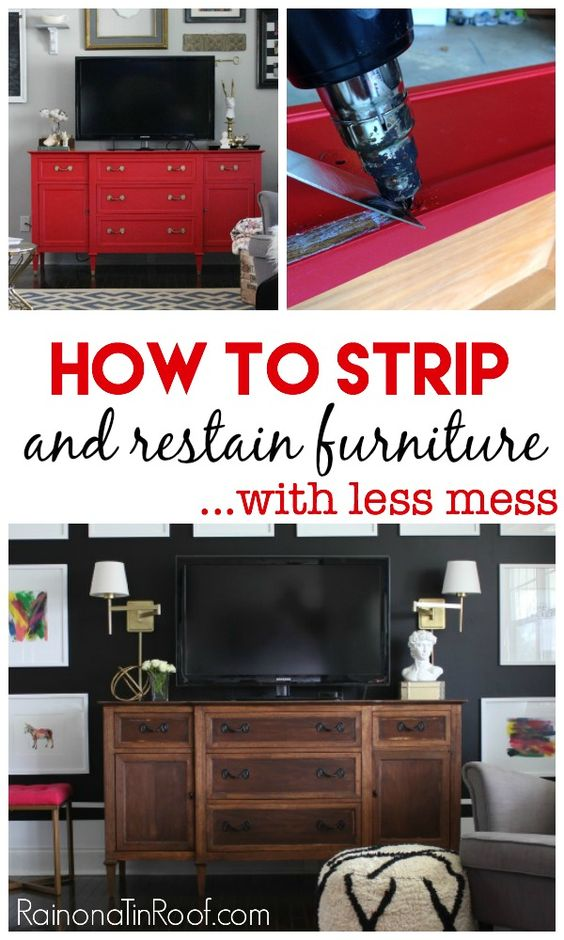 19 How to Strip Furniture and Restaining Wood via simphome