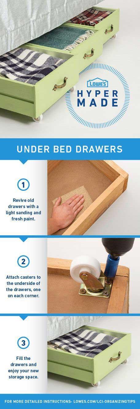 2 DIY Under Bed Storage via simphome